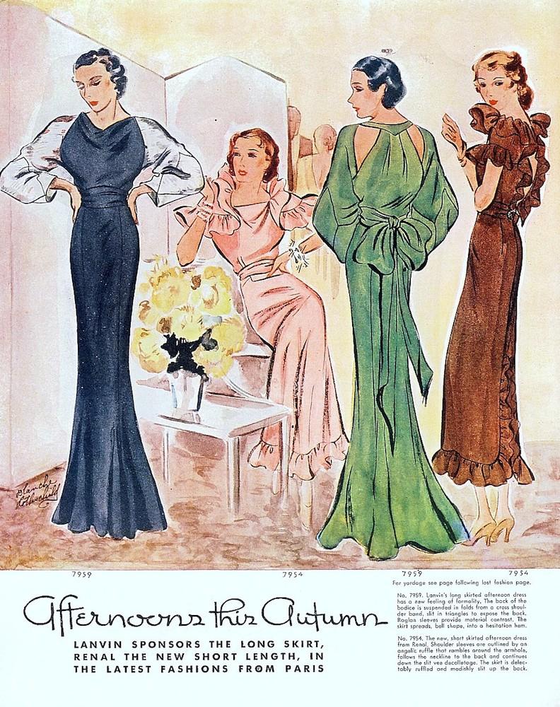 1930s Paris fashion (muscarilane.com)