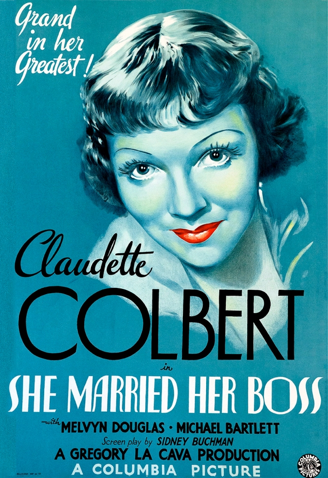 claudette colbert movie poster (muscarilane.com)